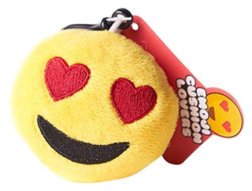 Love Bomb Kissen 0013Herz Augen Emoji-Kissen Schlüsselanhänger
