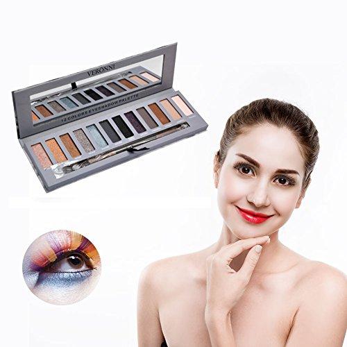 Lidschatten-Palette, 12 Farben Professional Smoky Kosmetik Lidschatten Pigment Matte glänzende Palette Augen Make-up (Pigment Ultra)