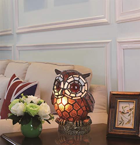 Bronze Tiffany Tischlampe (Europäischen stil schöne kreative kaffee eule tischlampe kinder lampe nachtlicht)