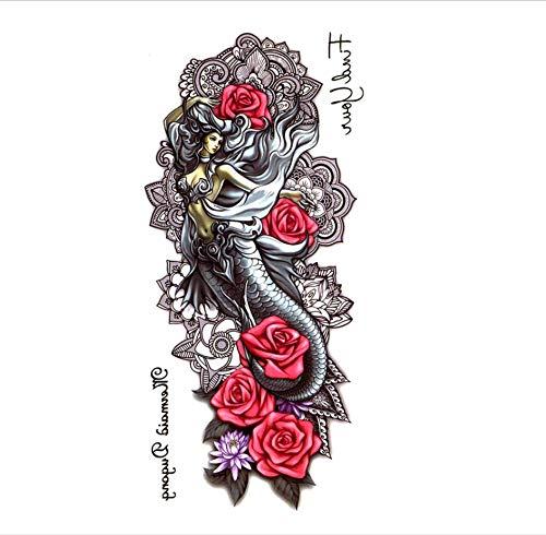 ruofengpuzi 4 Stücke Geladen New York Mythische Wasserdicht Temporäre Tätowierung Männer Blaue Blume Tattoo Make-Up Tattoo Temporären Wassertest (New York Tag Halloween Guten)