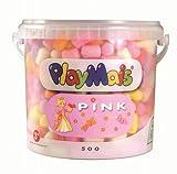 PlayMais 160048 - PlayMais Basic 500 pink, ca. 500 Teile