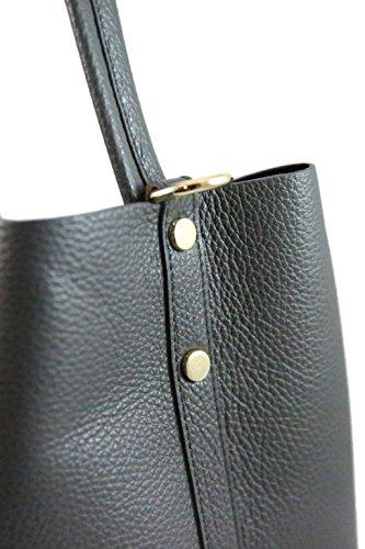Borsa in pelle a spalla da Donna - Amica Moda BPL1094 Grigio