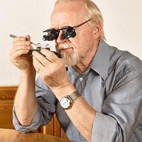 Lupenbrille 'Binokel', 20-fache Vergrößerung, mit Beleuchtung