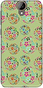 The Racoon Lean printed designer hard back mobile phone case cover for HTC One E9 Plus. (Green Flow)