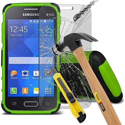 Samsung Galaxy S5 Neo hülle Tasche (Grün + Kopfhörer) Slim-Fit-Abdeckung für Samsung-Galaxie-S5 Neo-hülle Tasche Haltbarer S Linie Wellen-Gel-Kasten-Haut-Abdeckung + mit Aluminium Earbud Kopfhörer, Po Shock + glass (Green)
