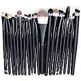 Contever® Set de 20 piezas Brochas Profesional Pinceles Maquillaje Herramienta Sombra de Ojos Polvos Delineador de ojos Fundación Lip Brush