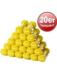 Oliver vinylhantel paire d'haltères de force musculaire 0,5 kg (gelb) 10 Paar
