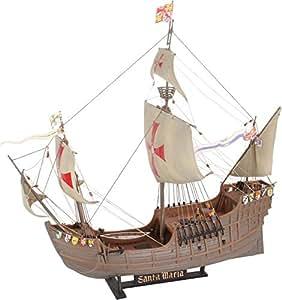 Revell Modellbausatz Schiff 1:90 - Columbus Ship SANTA MARIA im Maßstab 1:90, Level 4, originalgetreue Nachbildung mit vielen Details, Segelschiff, 05405