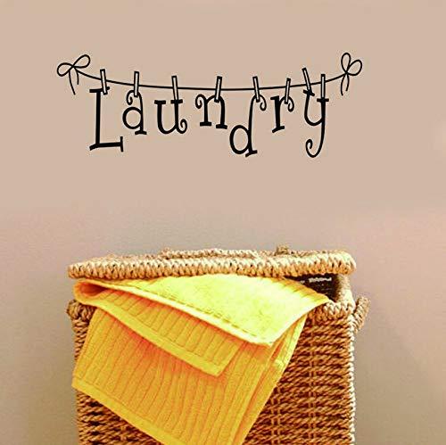 Señales de lavandería vinilo etiqueta de la pared para lavadero decoración de...