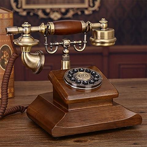 CHENGYI Neue Art-Europäer-Retro- Telefon-reine feste hölzerne klassische Innenministerium-feste Grundmaschine