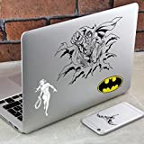 DC Comics Gadget Stickers | Retro Batman, Superman, Wonder Woman et Joker autocollant