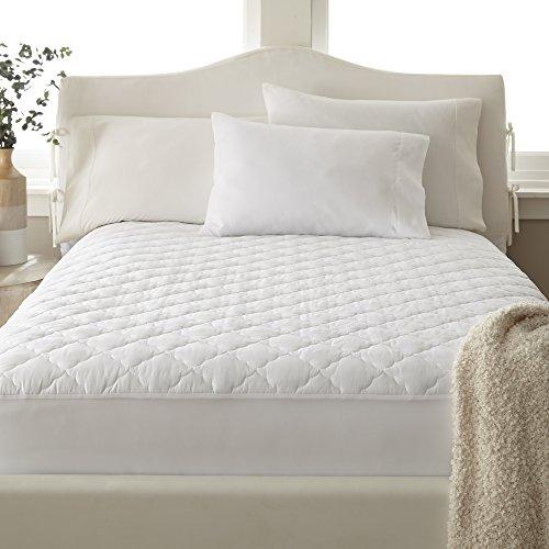 100 Pct Baumwolle (PCT T400100% Baumwolle, Gesteppte Matratze Pad Full massiv weiß)