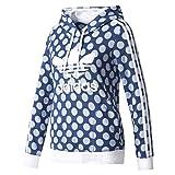 adidas Damen Slim Hoodie Sweatshirt, Blau (Azurea/Ópaper), 32