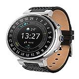 XYQS Bluetooth Smart Watch Pulsmesser Fitness Tracker Smart Armband Wasserdichte WiFi Verbindung für IOS Android Smartphone Geschenk (Farbe : Silber)