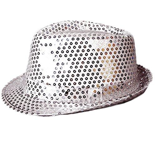 LI&HI Hüte LED bunten LED-Pailletten-Cowboy-Hut Lustiger Hut Abschlussballkleid
