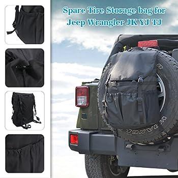 Travel Holder Bag, Hohe Kapazität Rucksack Cargo Satteltasche Reserverad Aufbewahrungstasche Für Wrangler Jk Yj Tj Suv 7