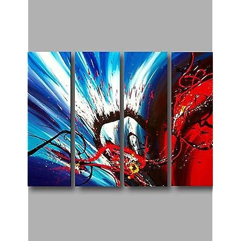 WEIAN Pronto ad appendere teso dipinti Pittura olio di quattro