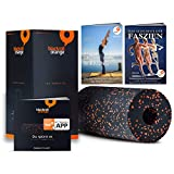 Blackroll Orange - die Original Faszien-Rolle inkl. Booklet, eBooks und App, EPP Massage-Rolle zum Faszien-Training