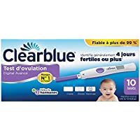 Test d'Ovulation Digital Clearblue Avec Lecture Deux Hormones - 10 Tests