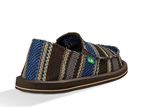 Sanuk Mens yew-Knit Loafer blue