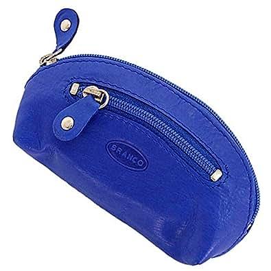 Branco Leder Schlüsseltasche Schlüsseletui Schlüsselmappe Schlüssel Etui GB (Blau)