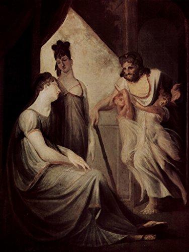 Lais Puzzle Johann Heinrich Füssli - Thetis le pide a Hephaestus Que forje una Armadura para su Hijo Aquiles 500 Piezas