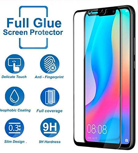 Blaspheme™ Tempered Glass Protector 6D – Full HD, 9H Shatterproof, Anti Scratch Screen Guard for Huawei nova 3i – Black Color