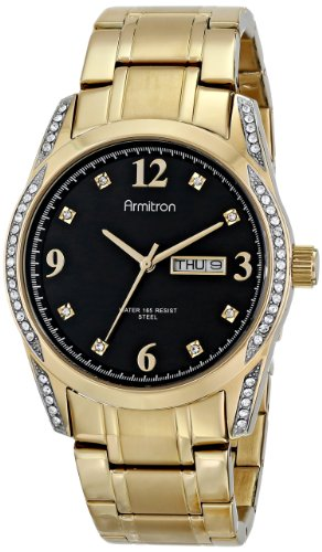 armitron-homme-20-4943bkgp-stainless-steel-swarovski-crystal-accented-montre