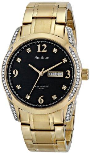 armitron-herren-20-4943bkgp-stainless-steel-swarovski-crystal-accented-armbanduhr