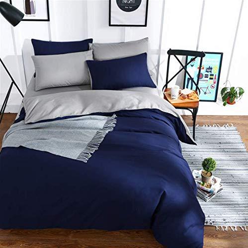 Ägypten Baumwolle Einfarbig Bettwäsche Set Seidig Reine Bettbezug Set Einzelprodukt Bettlaken Kissenbezüge Twin Queen King Size Tiefblau 200x230cm