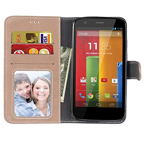 Coque Moto X3, Case Moto X3, Housse Moto X3, Meet de pour Motorola Moto X3 /X Force /Droid Turbo 2 Housse de Téléphone en Cuir, coque Portefeuille Case Couvrir PU Cuir Shell Case Cover smart flip cuir kaki