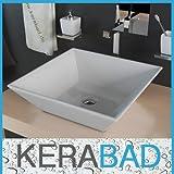 Waschbecken KBW049 Keramik Waschtisch Waschschale Aufsatzwaschbecken