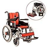 JL-Q Faltgefangene ältere Elektro-Rollstuhlfahrer Behindert Roller Carbon-Stahl-Frame Polymer Lithium-Batterie Intelligente Universal-Steuerung (Rechtshänder)