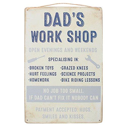 """Wandschild """"Dad's Workshop"""" (Papas Werkstatt)"""