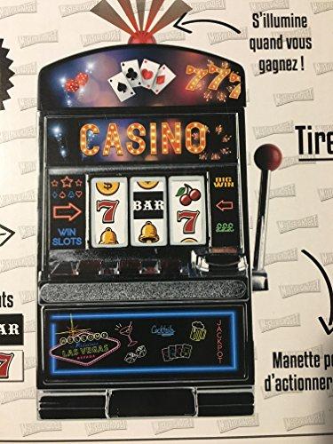 Grande tirelire géante machine à sous- Jouez comme au casino : le bruit, la lumière, les sous...