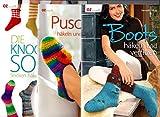 3 Hefte OZ creativ: Die Knooking-Socke - Socken häkeln wie gestrickt; Boots häkeln und verfilzen; Puschen häkeln und verfilzen.