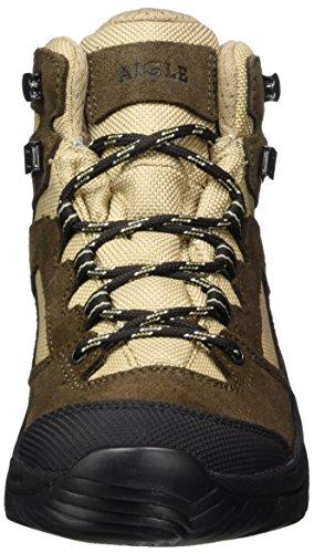 Aigle Arven Mid W Mtd, Chaussures de Randonnée Hautes Femme DARKBROWN/BEIGE