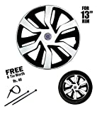#3: Autowheel 13 inch Double Color Wheel Cover- Maruti Wagonr (Set of 4)