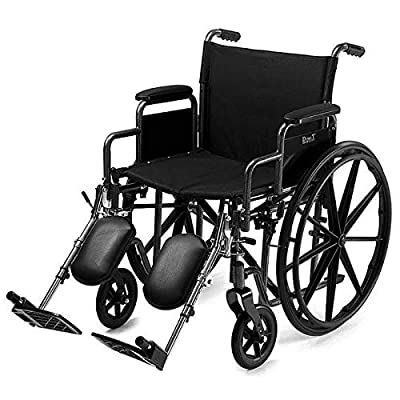 """D PRO T Extra Wide Seat 24"""" Wide Wheelchair Folding Self Propelled Puncture Proof With MAG Wheel 50 stone limit"""