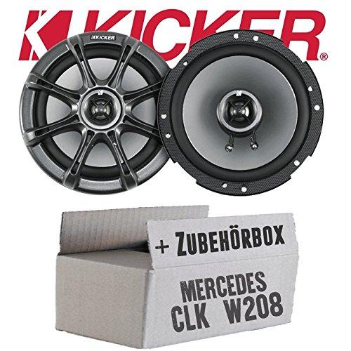 Kicker KS65-16cm Lautsprecher Boxen - Einbauset für Mercedes CLK W208 Front - JUST SOUND best choice for caraudio Kicker Ks-serie