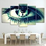 Canvas Painting 5 Piece HD Printed Green Woman Eye Prints Room Decor Posters Modern Home Decoration Atmosphere SJDBF