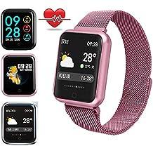 Reloj Deportivo Mujer,Miya Bluetooth Smartwatch Impermeable Reloj Inteligente Fitness Tracker con Monitor de Sueño