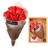 Apical Life Künstliche Rose, Real Touch Künstliche Blume als Geschenk zum Valentinstag, Muttertag, Jubiläum, Geburtstag