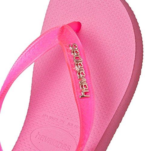 Havaianas Infradito Donna Logo Metallic Pink
