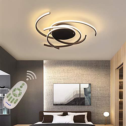 LED Wohnzimmerlampe Deckenleuchte Dimmbar Esszimmer Schlafzimmer Lampen mit Fernbedienung, Chic Art Design Metall Acryl-schirm Deckenlampe/Kronleuchter für Küche Bad Flur Deko Leuchten Ø75*H10cm