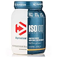 Dymatize ISO 100 Whey Protein Powder Isolate, Gourmet Vanilla, 1.6 lbs