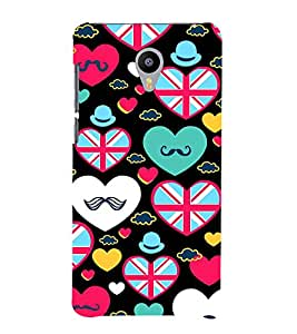 PrintVisa Designer Back Case Cover for Meizu M2 Note :: Meizu Note 2 (heart love flowers I love you love couple)