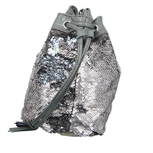 Jewels of Style S1721501-22 Damen Handtasche mit Reißverschluss Grau (Grau)