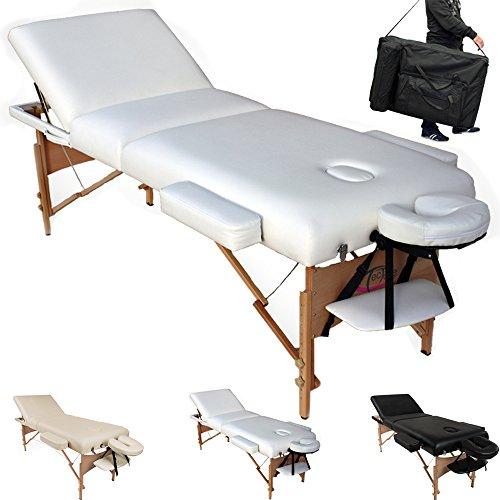 TecTake Table Lit de Massage Pliante Portable – diverses couleurs au choix