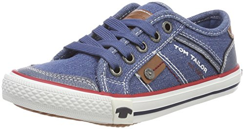 TOM TAILOR Jungen 4870001 Sneaker, Blau (Jeans), 39 EU